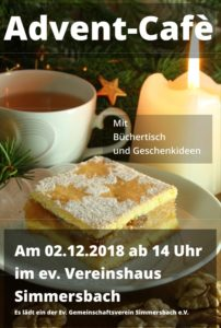 Advent-Café / Büchertisch @ Ev. Vereinshaus